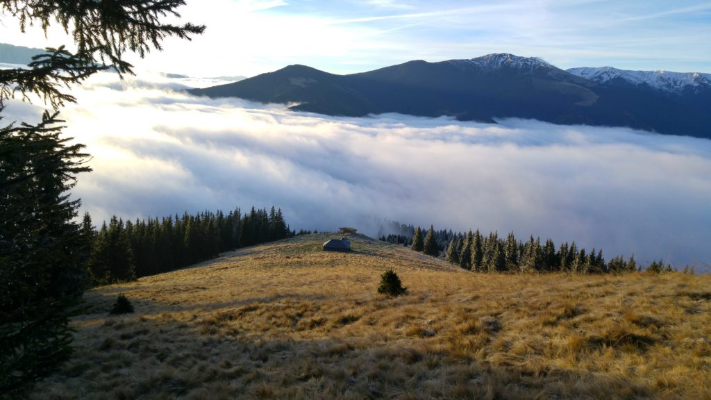 Carpathian Mountain Landscape with Clouds