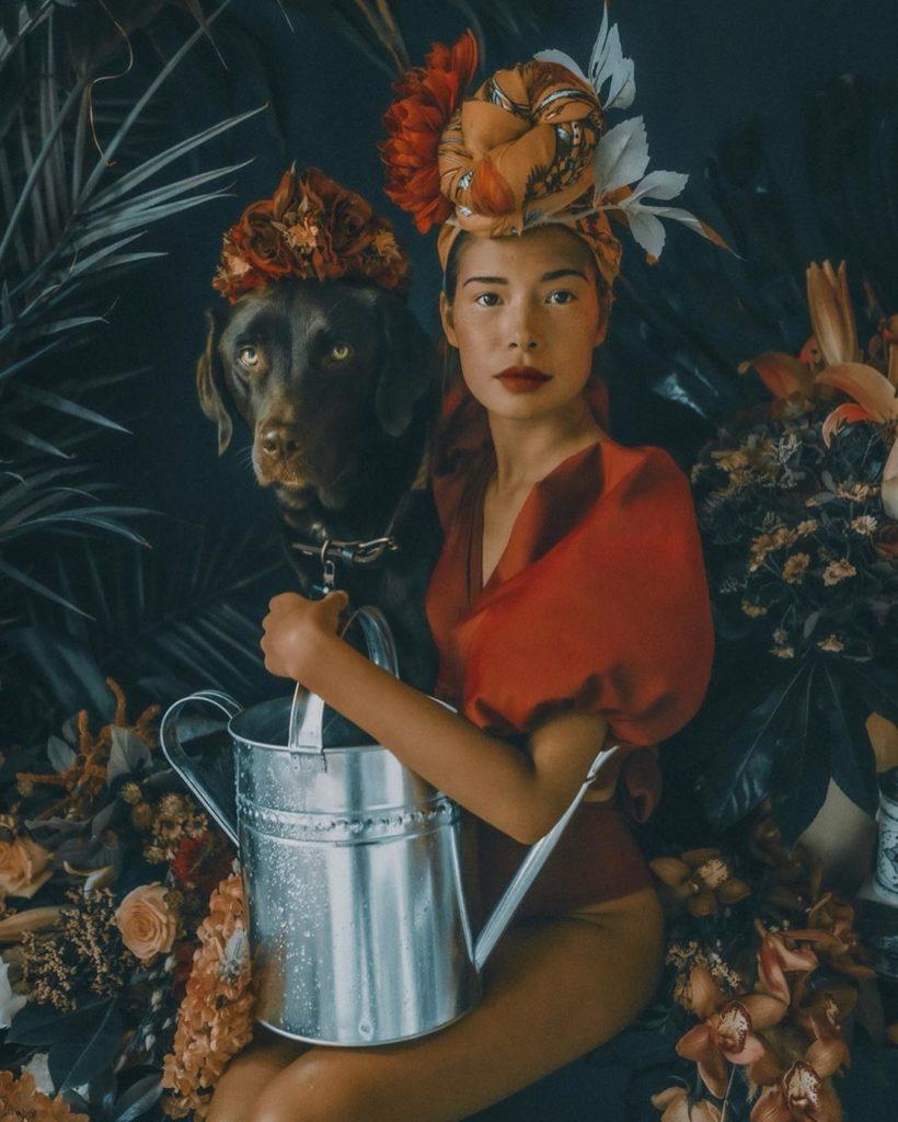 Marisa Hampe with Dog Halo