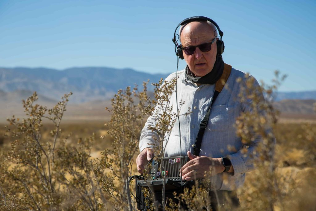 Chris Watson recording for Arizona November 2019 for Green Planet