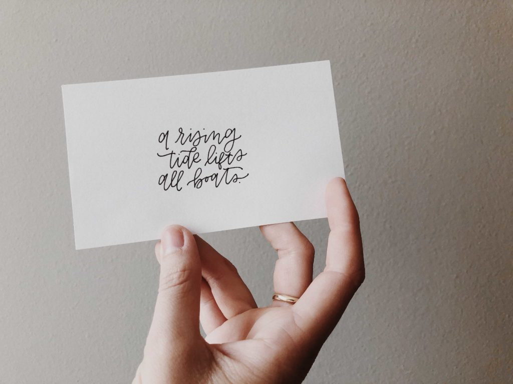 quote on a card