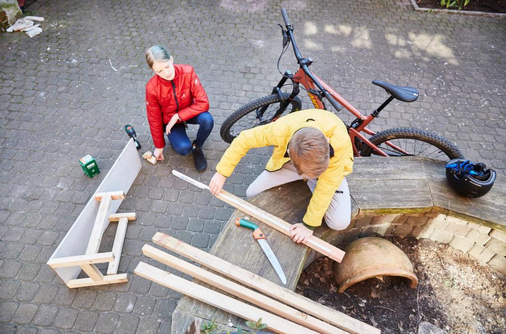 Building a bike ramp
