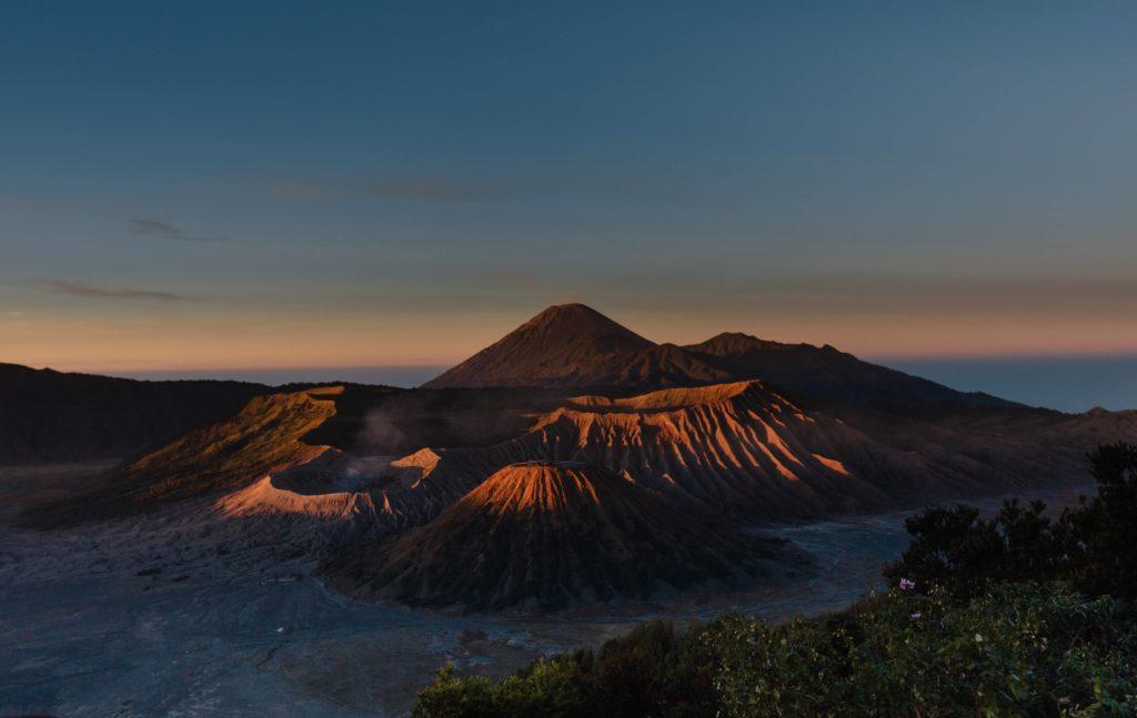 mount Bromo Indonesia evening view