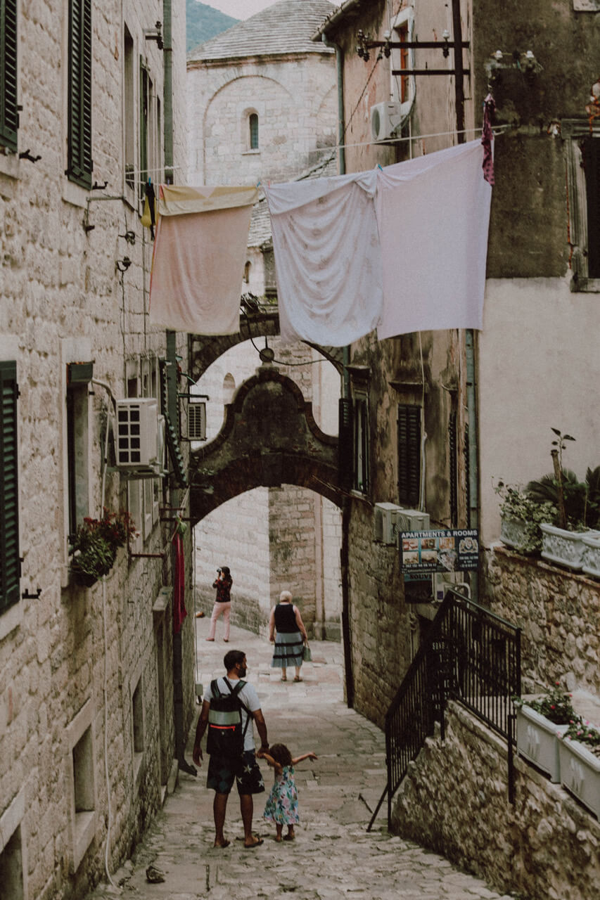 Old city in Montenegro
