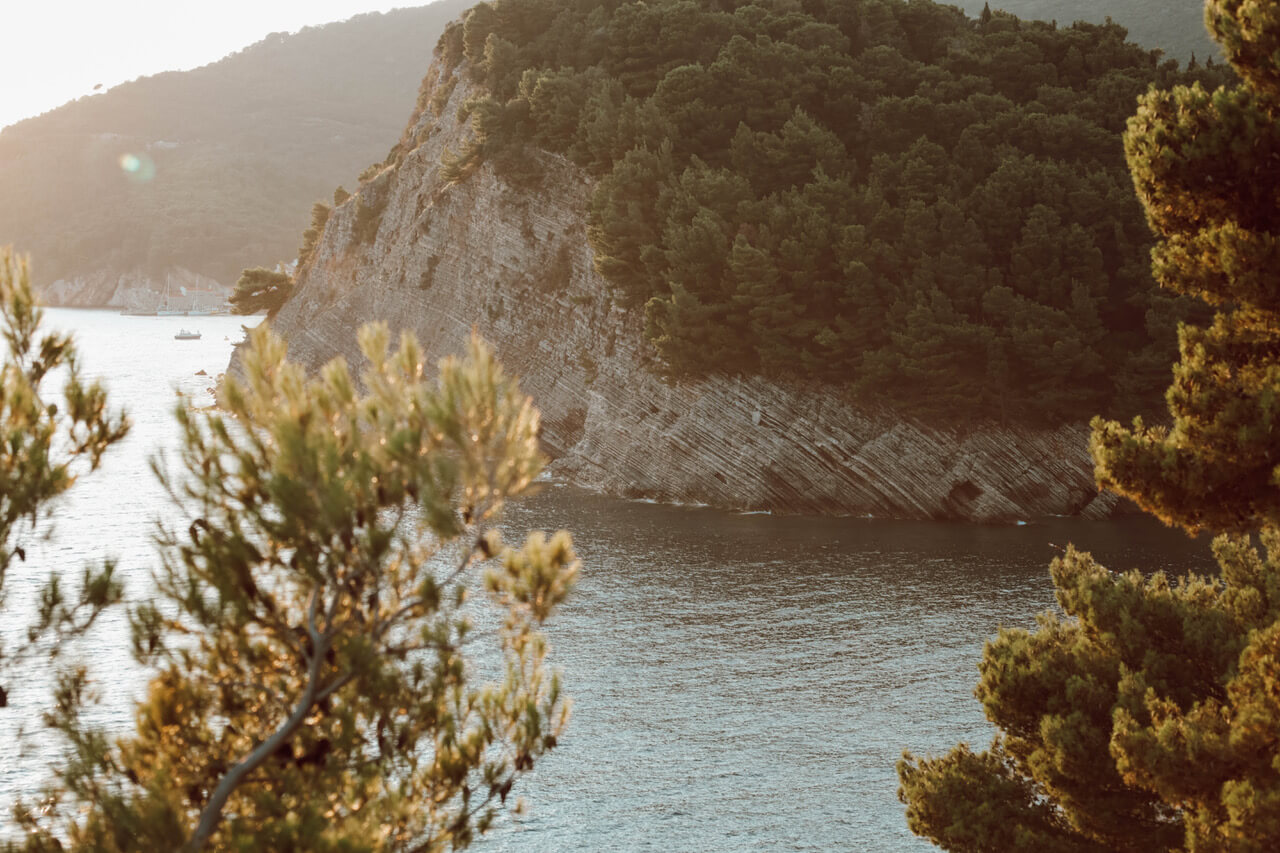 Sea view in Montenegro from a cliff
