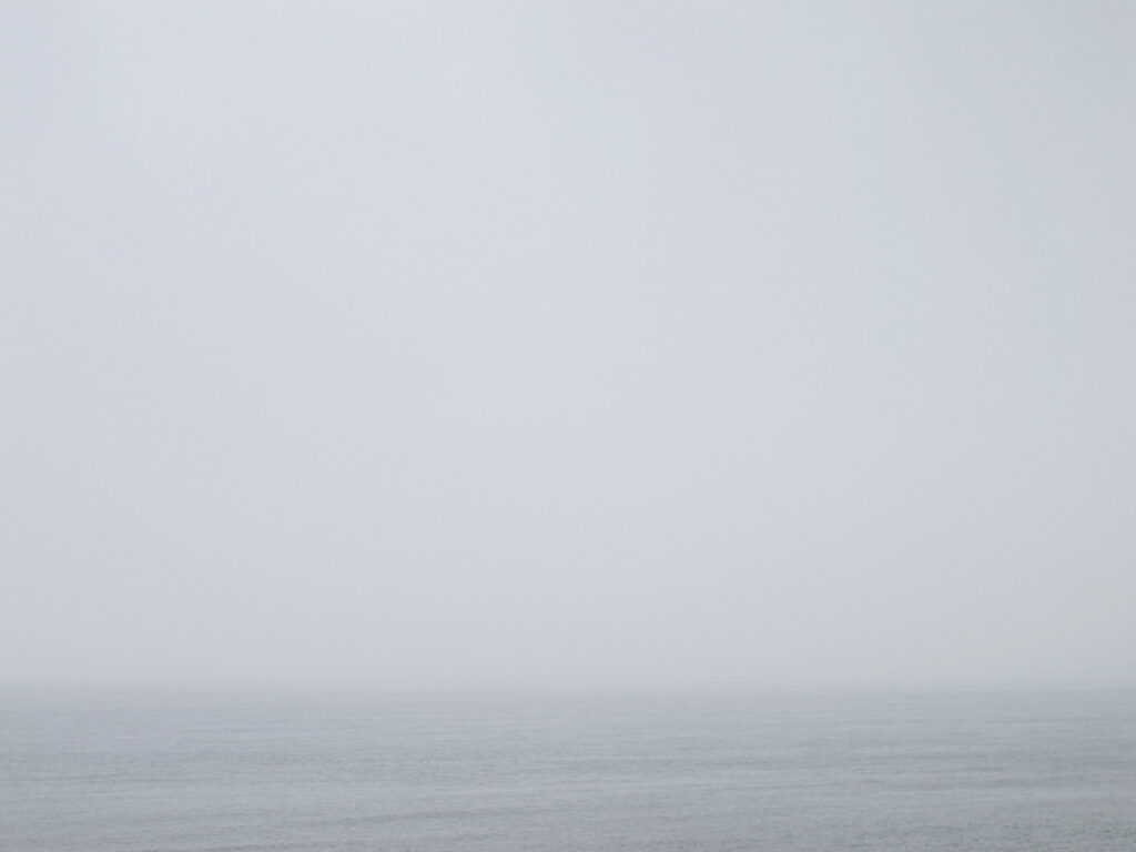 foggy and grey ocean view in Denmark