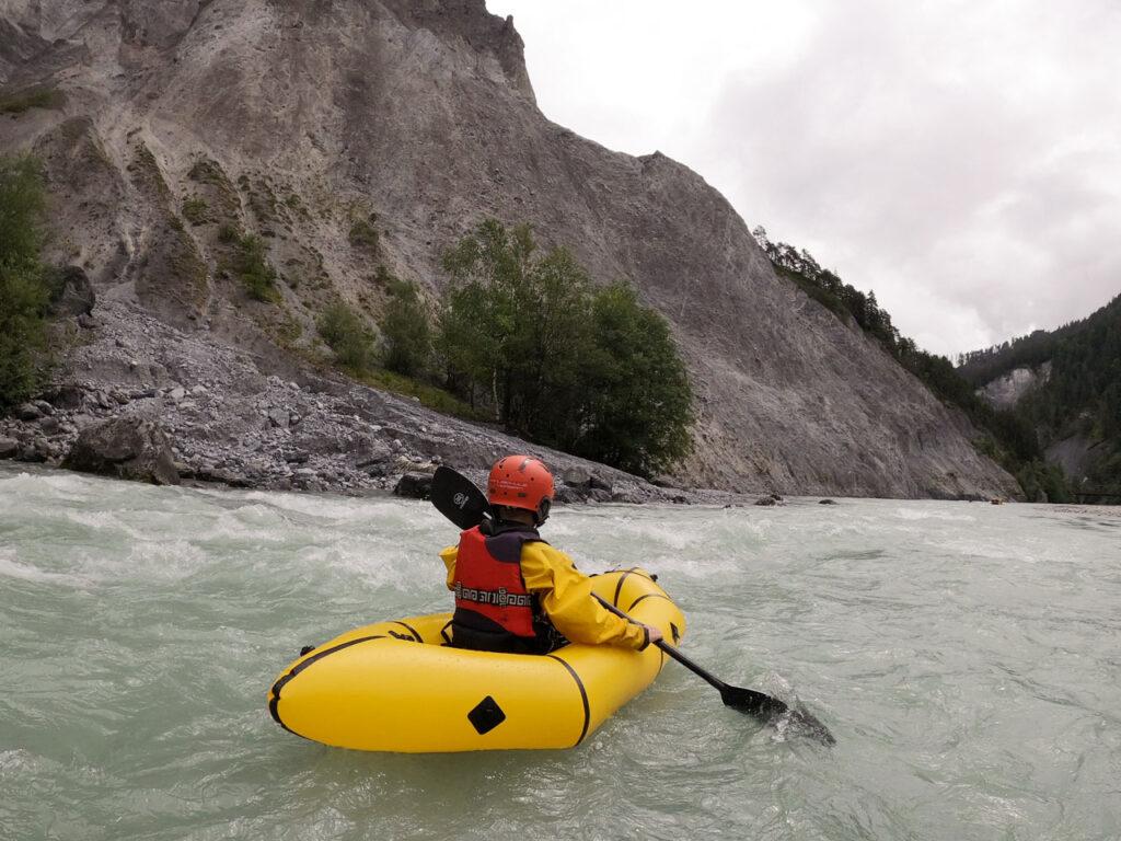 Rafting auf einem Gebirgsfluss