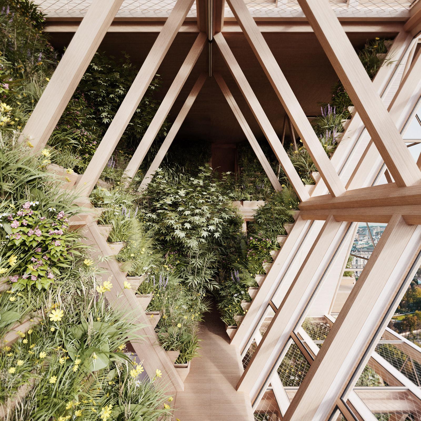 Verticle Garden wooden construction