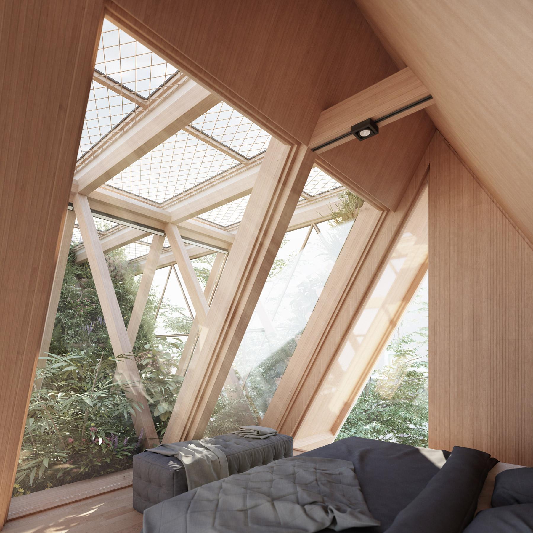 Verticle Garden with bedroom
