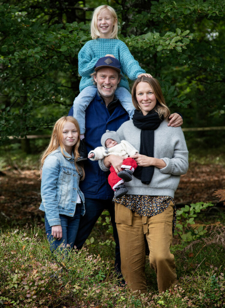 Swedish family that runs Stedsans in the woods