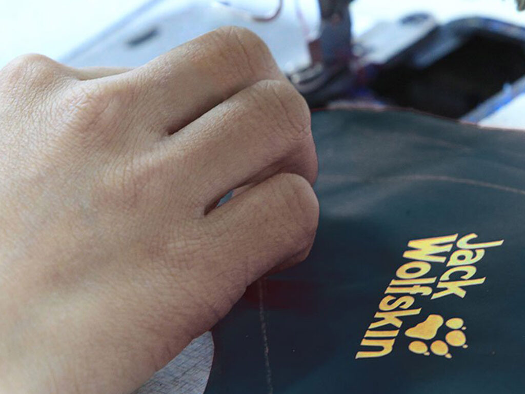 repairing a Jack Wolfskin Jacket