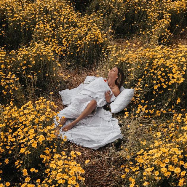 Relaxing in the field