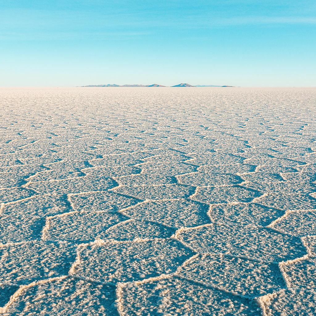 Incredible salt lake and view towards the horizon